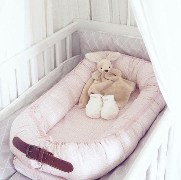 Filibabba babynest i pink